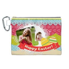 Easter By Easter   Canvas Cosmetic Bag (large)   Lcy3jw38p6ba   Www Artscow Com Front