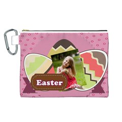 Easter By Easter   Canvas Cosmetic Bag (large)   Hez53jev259i   Www Artscow Com Front
