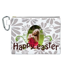 Easter By Easter   Canvas Cosmetic Bag (large)   21bk6owj9xgi   Www Artscow Com Front