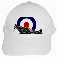 Spitfire And Roundel White Baseball Cap by TheManCave