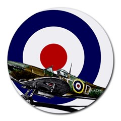 Spitfire And Roundel 8  Mouse Pad (Round) by TheManCave