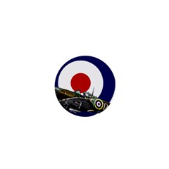 Spitfire And Roundel 1  Mini Button by TheManCave