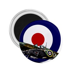 Spitfire And Roundel 2 25  Button Magnet by TheManCave