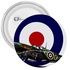 Spitfire And Roundel 3  Button by TheManCave