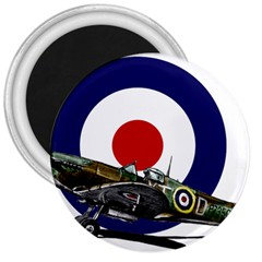 Spitfire And Roundel 3  Button Magnet by TheManCave
