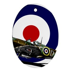 Spitfire And Roundel Oval Ornament by TheManCave