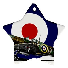 Spitfire And Roundel Star Ornament by TheManCave