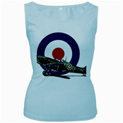 Spitfire And Roundel Women s Tank Top (Baby Blue) by TheManCave