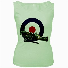 Spitfire And Roundel Women s Tank Top (green) by TheManCave