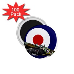 Spitfire And Roundel 1.75  Button Magnet (100 pack) by TheManCave