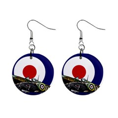 Spitfire And Roundel Mini Button Earrings by TheManCave