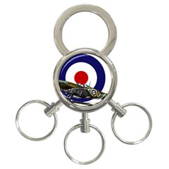 Spitfire And Roundel 3-Ring Key Chain by TheManCave