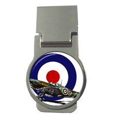 Spitfire And Roundel Money Clip (Round) by TheManCave