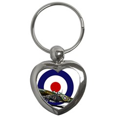 Spitfire And Roundel Key Chain (Heart) by TheManCave