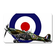 Spitfire And Roundel Magnet (Rectangular) by TheManCave