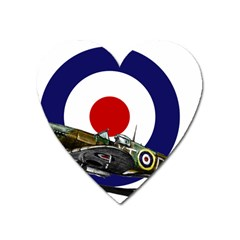 Spitfire And Roundel Magnet (heart) by TheManCave