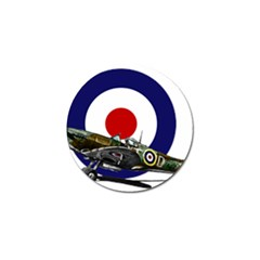 Spitfire And Roundel Golf Ball Marker 10 Pack by TheManCave