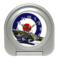 Spitfire And Roundel Desk Alarm Clock by TheManCave