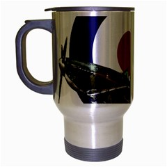 Spitfire And Roundel Travel Mug (silver Gray) by TheManCave