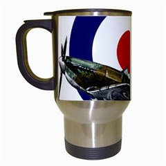 Spitfire And Roundel Travel Mug (white) by TheManCave