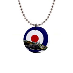 Spitfire And Roundel Button Necklace by TheManCave