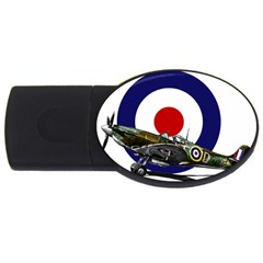 Spitfire And Roundel 4GB USB Flash Drive (Oval) by TheManCave