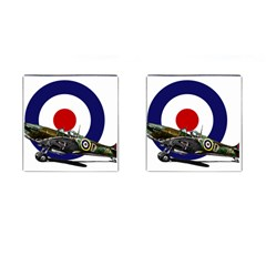 Spitfire And Roundel Cufflinks (Square) by TheManCave