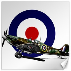 Spitfire And Roundel Canvas 20  X 20  (unframed) by TheManCave