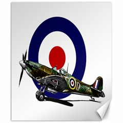 Spitfire And Roundel Canvas 20  x 24  (Unframed) by TheManCave