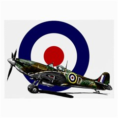 Spitfire And Roundel Glasses Cloth (Large, Two Sided) by TheManCave