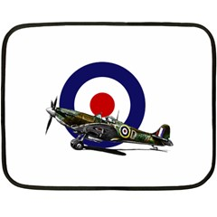 Spitfire And Roundel Mini Fleece Blanket (Two Sided) by TheManCave