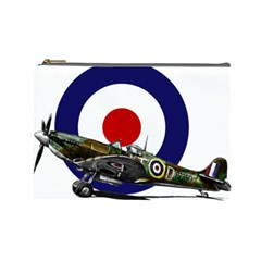 Spitfire And Roundel Cosmetic Bag (large) by TheManCave