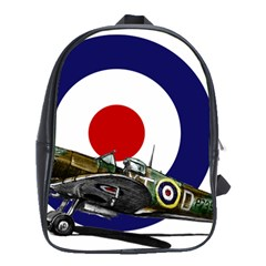 Spitfire And Roundel School Bag (Large) by TheManCave