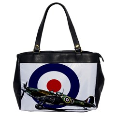 Spitfire And Roundel Oversize Office Handbag (One Side) by TheManCave