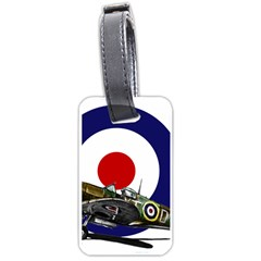 Spitfire And Roundel Luggage Tag (Two Sides) by TheManCave