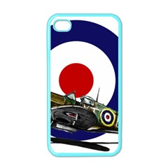 Spitfire And Roundel Apple iPhone 4 Case (Color) by TheManCave