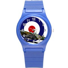 Spitfire And Roundel Plastic Sport Watch (small) by TheManCave