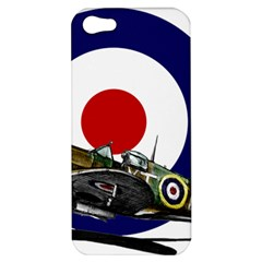 Spitfire And Roundel Apple iPhone 5 Hardshell Case by TheManCave