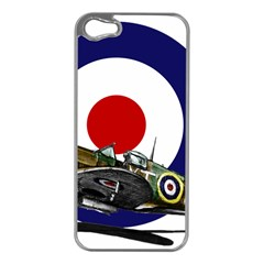 Spitfire And Roundel Apple Iphone 5 Case (silver) by TheManCave