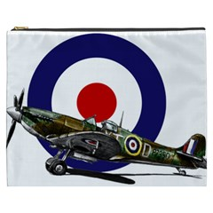 Spitfire And Roundel Cosmetic Bag (XXXL) by TheManCave