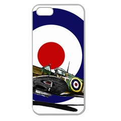 Spitfire And Roundel Apple Seamless Iphone 5 Case (clear) by TheManCave