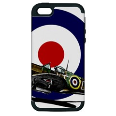Spitfire And Roundel Apple Iphone 5 Hardshell Case (pc+silicone) by TheManCave