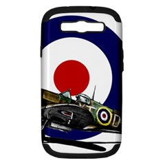 Spitfire And Roundel Samsung Galaxy S Iii Hardshell Case (pc+silicone)