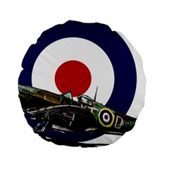 Spitfire And Roundel 15  Premium Round Cushion  by TheManCave