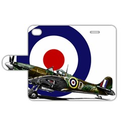 Spitfire And Roundel Apple iPhone 4/4S Leather Folio Case by TheManCave