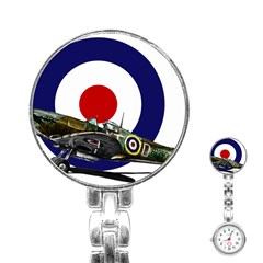 Spitfire And Roundel Stainless Steel Nurses Watch by TheManCave