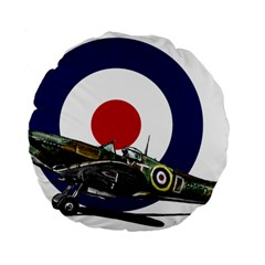 Spitfire And Roundel 15  Premium Flano Round Cushion  by TheManCave