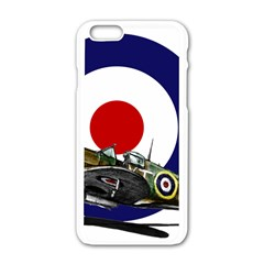 Spitfire And Roundel Apple Iphone 6 White Enamel Case by TheManCave