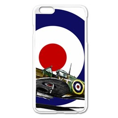 Spitfire And Roundel Apple Iphone 6 Plus Enamel White Case