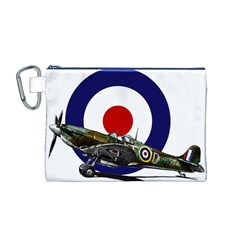 Spitfire And Roundel Canvas Cosmetic Bag (Medium) by TheManCave